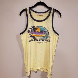 Ron Jon yellow sunset tank top XL